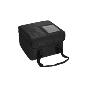 AV-11/BL Τσάντα Θερμός Μεταφοράς Τροφίμων τετράγωνη 38x38x25 cm, μαύρη