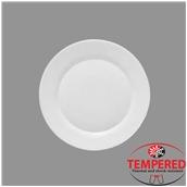 TOL-FP-25 Πιάτο Οπαλίνης Ρηχό 25 cm, Λευκό, Tempered, Σειρά Toledo, Bormioli Rocco