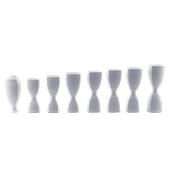 J008W Σετ Δοσομετρικά  με Λευκά Jigger και Λευκές Βάσεις-Κλίπς PS, The Bars, Ιταλίας