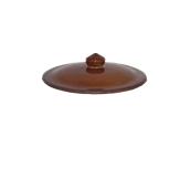 RD.GL02 Καπάκι για Γιουβετσάκι, Πορσελάνης Πυρίμαχο, Φ15,5x4 cm