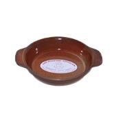 RD.S01 Σαγανάκι Στρογγυλό Στοιβαζόμενο 45cl, Πορσελάνης Πυρίμαχο, Φ16x3,5 cm, καφέ