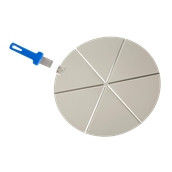 AC-PCPT45/6 Δίσκος Σερβιρίσματος Πίτσας, Φ45cm, 6 κομματιών,  Αλουμινίου