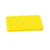 000.0Π9/YE Κίτρινη Πλάκα Κοπής Πολυαιθυλενίου 50x30x2 cm