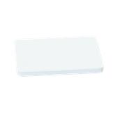 000.0Π9/WH Άσπρη Πλάκα Κοπής Πολυαιθυλενίου 50x30x2 cm