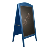 000.073/BL Ξύλινοs Πίνακαs Διπλόs Menu 152 x 77 cm Μπλε