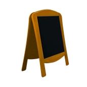 000.071/LT Ξύλινοs Πίνακαs Διπλόs Menu 120 x 75 cm Ανοιχτό Καφέ