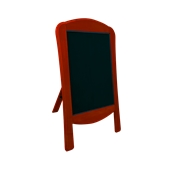 000.070/RD Ξύλινοs Πίνακαs Menu 120 x 75 cm Κόκκινοs