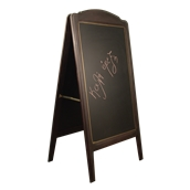 000.073/DK Ξύλινοs Πίνακαs Διπλόs Menu 152 x 77 cm Σκούρο Καφέ