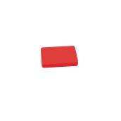 00Π.169/RD Κόκκινη Πλάκα Κοπής Πολυαιθυλενίου 20x15x2 cm