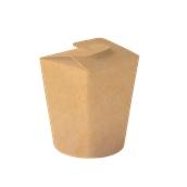 633-81 Χάρτινο Κύπελο Φαγητού που Κλείνει, χρώμα Kraft, Φ11x12,4 cm, Ιταλίας