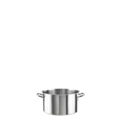 PN-P20X12 Χύτρα Βαθιά Φ20x12cm INOX 18/10 PINTINOX χωρίς καπάκι, Ιταλικής Κατασκευής
