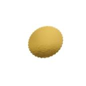 DM-25 Δίσκος-Βάση Τούρτας Χάρτινη Στρογγυλή Φ25cm σε χρυσό χρώμα, Ιταλίας (τιμή ανά κιλό)