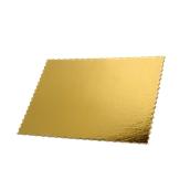 DM-30X40 Δίσκος-Βάση Τούρτας Χάρτινη Ορθογώνια 30x40cm σε χρυσό χρώμα, Ιταλίας (τιμή ανά κιλό)
