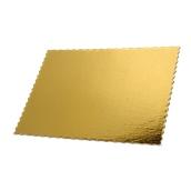 DM-35X50 Δίσκος-Βάση Τούρτας Χάρτινη Ορθογώνια 35x50cm σε χρυσό χρώμα, Ιταλίας (τιμή ανά κιλό)