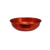 AL-BRD-20/RD Ψωμιέρα Αλουμινίου Κόκκινο Φ20x5,8cm, Ελληνικής Κατασκευής