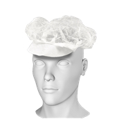 HG-03 Καπέλο Διχτάκι με Γείσο, Μίας Χρήσης
