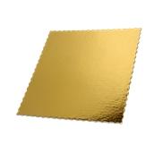 DM-40X40 Δίσκος-Βάση Τούρτας Χάρτινη Τετράγωνη 40x40cm σε χρυσό χρώμα, Ιταλίας (τιμή ανά κιλό)