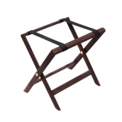 000.084/DK Αναδιπλούμενη ξύλινη μπαγκαζιέρα 50x38x49cm, βαμμένη σκούρο καφέ