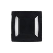 8052-19 Πιάτο γλυκού πλαστικό PP τετράγωνο 18x18cm μαύρο πολυτελείας.