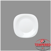 PRM-FP-20X20 Πιάτο Οπαλίνης Ρηχό 20x20 cm, Λευκό, Tempered, Σειρά Parma, Bormioli Rocco