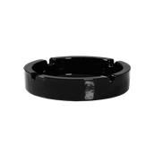 COK-AS-14/BL Τασάκι γυάλινο μαύρο 14 cm