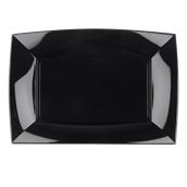 8055-19 Πιατέλα πλαστική PP ορθογώνια 34.5x23cm μαύρη πολυτελείας.