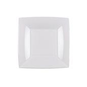 8052-11 Πιάτο γλυκού πλαστικό PP τετράγωνο 18x18cm λευκό πολυτελείας.