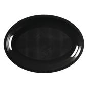 2755-19 Πιατέλα πλαστική οβάλ PP 30,5x21,5cm μαύρο.
