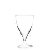 7570-11 Πλαστικό ποτήρι σαμπάνιας PS μίας χρήσης με άσπρη βάση, 16cl