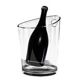 4778-21 Σαμπανιέρα SMMA, για 3 μπουκάλια, 22,2x17x23,1cm, μαύρη διαφανές