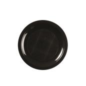 2752-19 Πιάτο πλαστικό γλυκού στρογγυλό PP 18cm μαύρο.