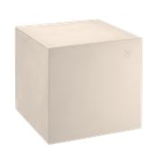 HF320-DM4545-120 Έπιπλο διακοσμητικό πλαστικό πολλαπλών χρήσεων, κύβος μπεζ 45x45x45cm Ιταλίας