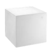 HF320-DM4545-000 Έπιπλο διακοσμητικό πλαστικό πολλαπλών χρήσεων, κύβος λευκός 45x45x45cm Ιταλίας