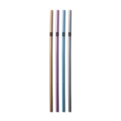 K.153/FS101011 1000 Καλαμάκια Σπαστά, FRAPPE, Φ5x240 mm, Μεταλλικά