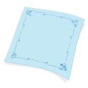 1100821103 Χάρτινο Τραπεζομάντηλο Εστιατορίου, 100x100 cm, 3φυλλο, μπλε σχέδιο ναυτικό, ENDLESS