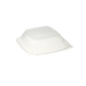 HOT53671 Καπάκι Τετράγωνo για Δοχεία μιας χρήσης, 16x16x6cm, PP, Διάφανο, Sabert
