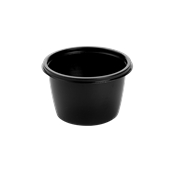 HOT75116 Δοχείο Τροφίμων Στρογγυλό 500ml, Φ13x7cm, PP, Μαύρο, Μίας Χρήσης, Sabert