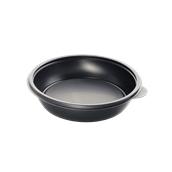 HOT77124 Δοχείο Τροφίμων Στρογγυλό 750ml, Φ19x4cm, PP, Μαύρο, Μίας Χρήσης, Sabert