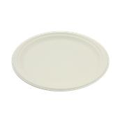 PUL2005 Πιάτο Ρήχο Στρογγυλό Φ26cm, από ζαχαροκάλαμο, Μίας Χρήσης, Εκρού, Sabert