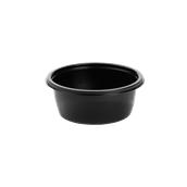 HOT75112 Δοχείο Τροφίμων Στρογγυλό 375ml, Φ13x5cm, PP, Μαύρο, Μίας Χρήσης, Sabert