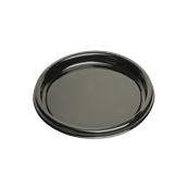 BLA00912-50 Δίσκος πλαστικός παρουσίασης Φ30cm, Στρογγυλός, , Μίας Χρήσης, PET, Μαύρος, Sabert