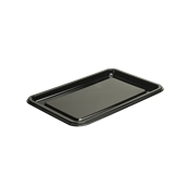 BLA9314-50 Δίσκος πλαστικός παρουσίασης 35x24cm Ορθογώνιος, Μίας Χρήσης, PET, Μαύρος, Sabert