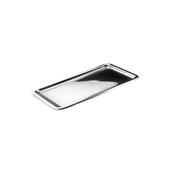 SIL00307-50 Δίσκος πλαστικός παρουσίασης 35x16cm Ορθογώνιος, Ασημί, PET, Μίας Χρήσης, Sabert
