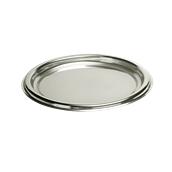 SIL00416-50 Δίσκος πλαστικός παρουσίασης Φ40cm Στρογγυλός, Ασημί, PET, Μίας Χρήσης, Sabert