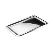 SIL00314-50 Δίσκος πλαστικός παρουσίασης 35x24cm Ορθογώνιος, Ασημί, PET, Μιας Χρήσης, Sabert