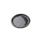 ROM8709 Πιάτο Ρηχό Στρογγυλό Φ23x2cm, PET, Μίας Χρήσης, Χρώμα μαύρου μαρμάρου με μπλε νερά, Sabert