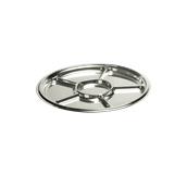 SIL00612-50 Δίσκος πλαστικός με 6 θέσεις Φ30cm Στρογγυλός, Ασημί, PET, Μίας Χρήσης, Sabert
