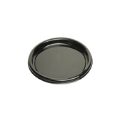 ROM9701 Πιάτο Ρηχό Στρογγυλό Φ26x2cm, Μαύρο, PET, Μίας Χρήσης,  Sabert