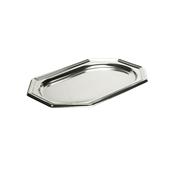 SIL00345-50 Δίσκος πλαστικός παρουσίασης 36x24cm Οκταγωνικός, Ασημί, PET, Μίας Χρήσης, Sabert