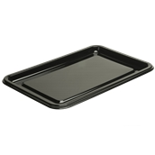 BLA9321-50 Δίσκος πλαστικός παρουσίασης 55x37cm Ορθογώνιος, Μίας Χρήσης, PET, Μαύρος, Sabert